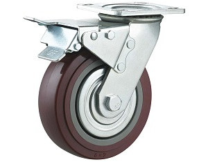 Polyurethane on Polypropylene Casters with Metal Cover
